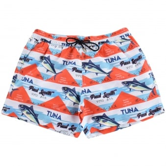 PS Paul Smith Blue 'Tuna' Print Swim Shorts