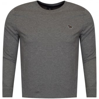 PS Paul Smith Grey Long Sleeve Crew Neck T-Shirt