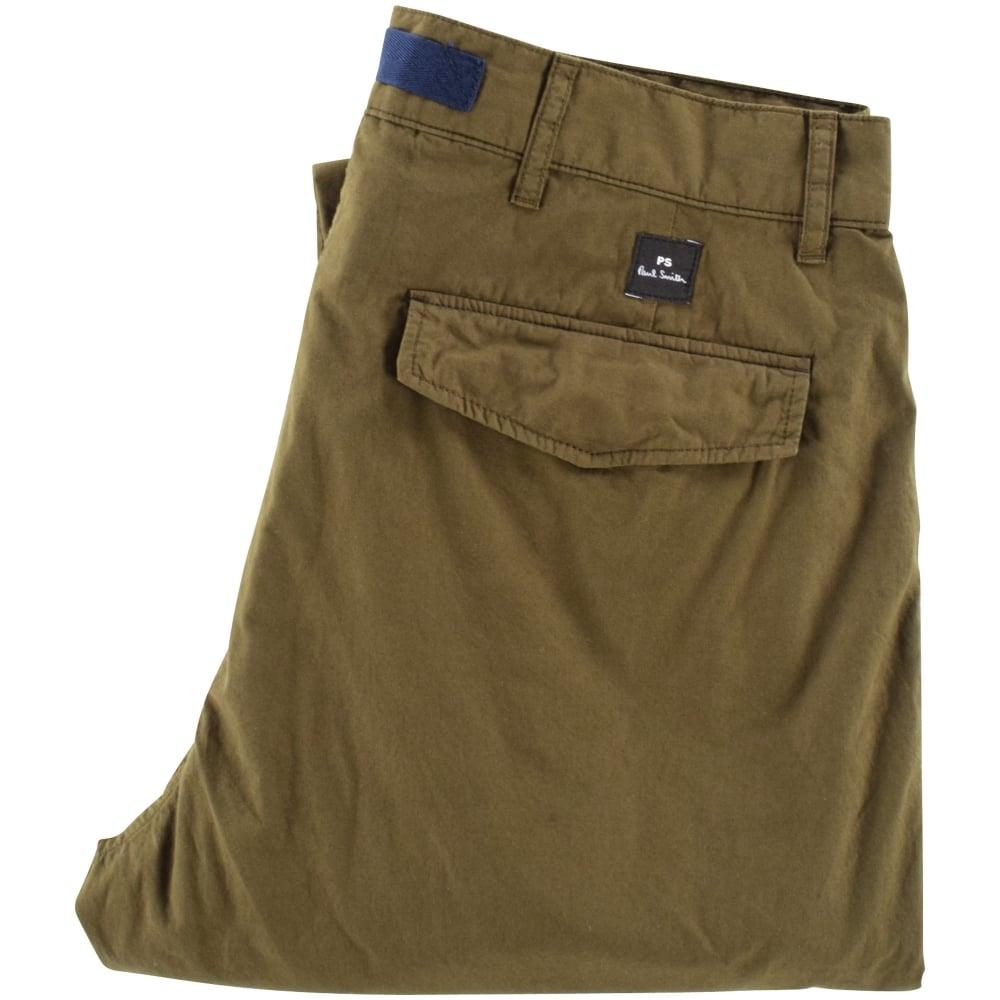5f66039d02 PS PAUL SMITH PS Paul Smith Khaki Mens Flight Trousers - Department ...