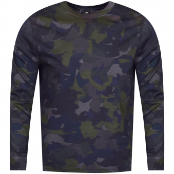 PS Paul Smith Navy Camo Print Long Sleeve T-Shirt