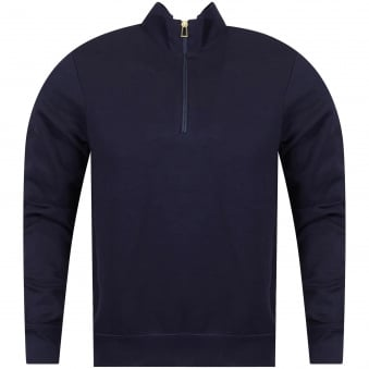 Navy Half Zip Track Top