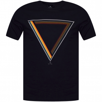 PS Paul Smith Navy Multi Triangle Logo T-Shirt
