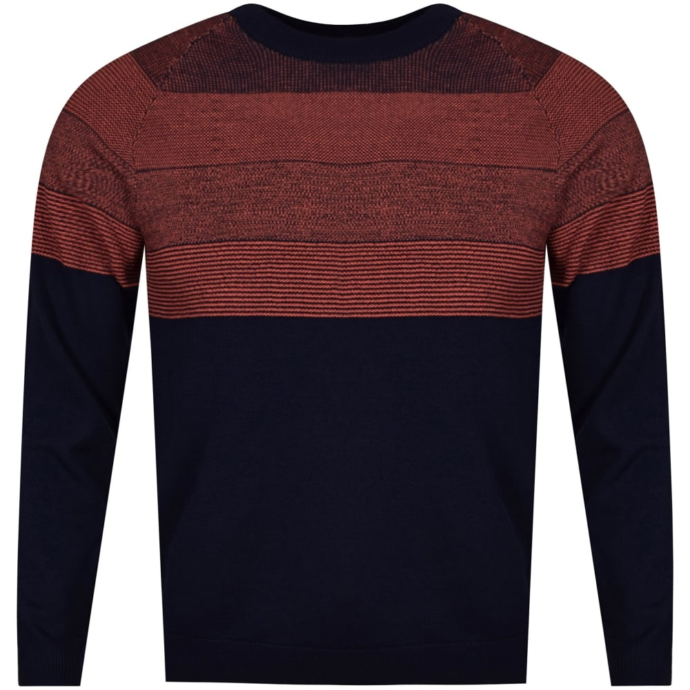 07598aced8fe73 PS PAUL SMITH Paul Smith Navy/Orange Striped Knitted Jumper - Men ...