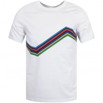 Paul Smith White Line Print T-Shirt