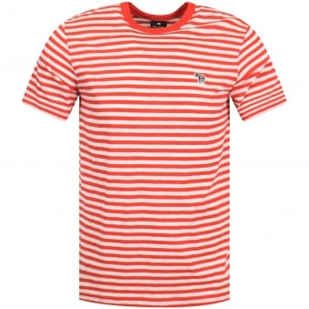 Red/White Stripe Logo T-Shirt