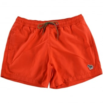 PS Paul Smith Red Zebra Badge Logo Swim Shorts