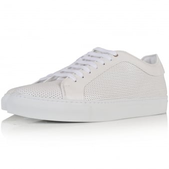 PS Paul Smith White Perforated Basso Trainers