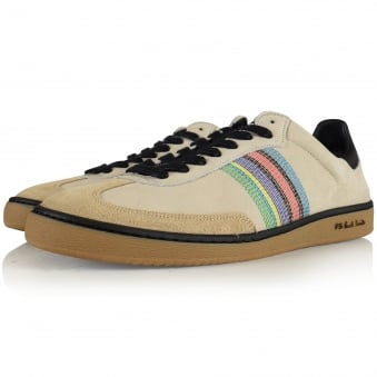 PS Paul Smith Yuki Ivory Nubuck Leather Trainer