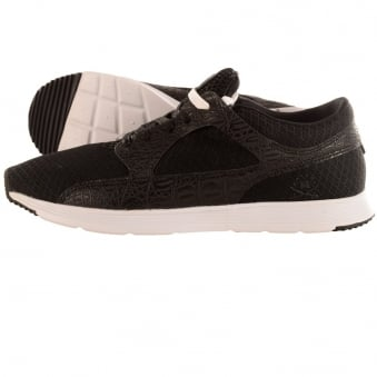Ranson Valley Black Light Croc Trainers