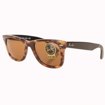 Ray-Ban Matte Effect Tortuous Shell Justin Sunglasses