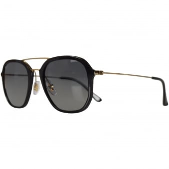 Ray Ban Sunglasses Black/Gold Highstreet Sunglasses