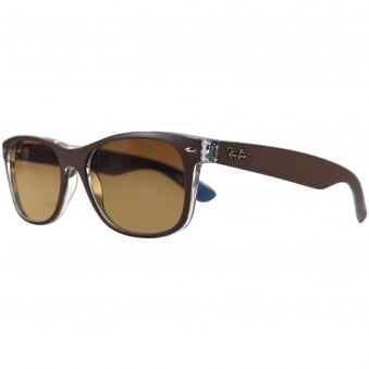 Ray Ban Sunglasses Brown/Sky Blue Wayfarer Sunglasses