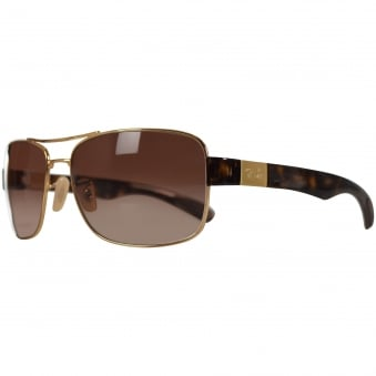 Ray Ban Sunglasses Havana Brown/Gold Active Sunglasses