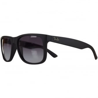 Ray Ban Sunglasses Matte Black Rubber Wayfarer Sunglasses