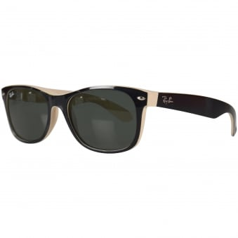 d1e7997b33 Ray-Ban Black Cream Wayfarer Sunglasses