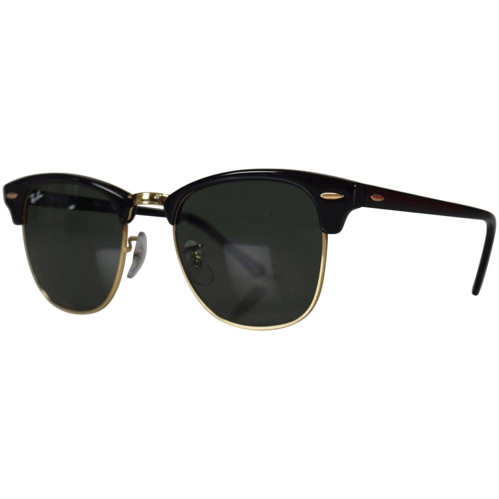RAY-BAN SUNGLASSES Ray-Ban Black Gold Wayfarer Sunglasses - Men from ... 95dd069e1b
