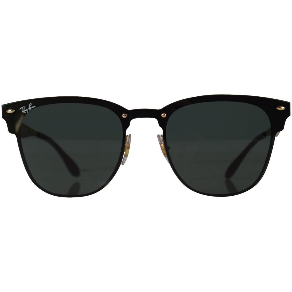 Ray Ban Sunglasses Ray Ban Black Gold Wayfarer Sunglasses