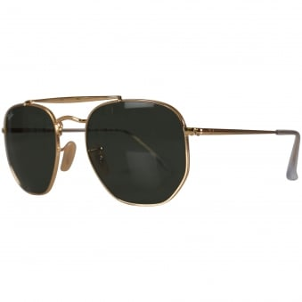 Ray-Ban Gold Rounded Sunglasses