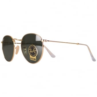 Ray Ban Gold Tea Shade Sunglasses
