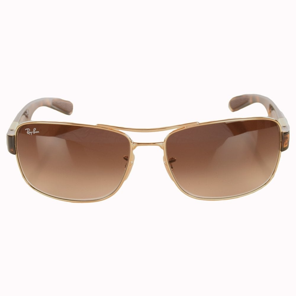 gold ray ban sunglasses py3h  RAY-BAN SUNGLASSES Ray Ban Tortoise Shell Gold Frame Glasses