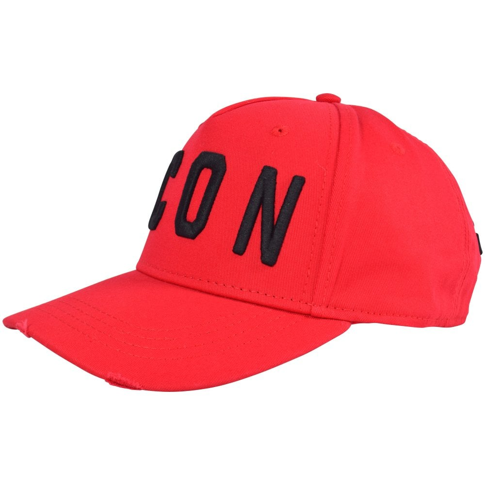 6331dafb DSQUARED2 Red/Black Icon Baseball Cap - Men from Brother2Brother UK