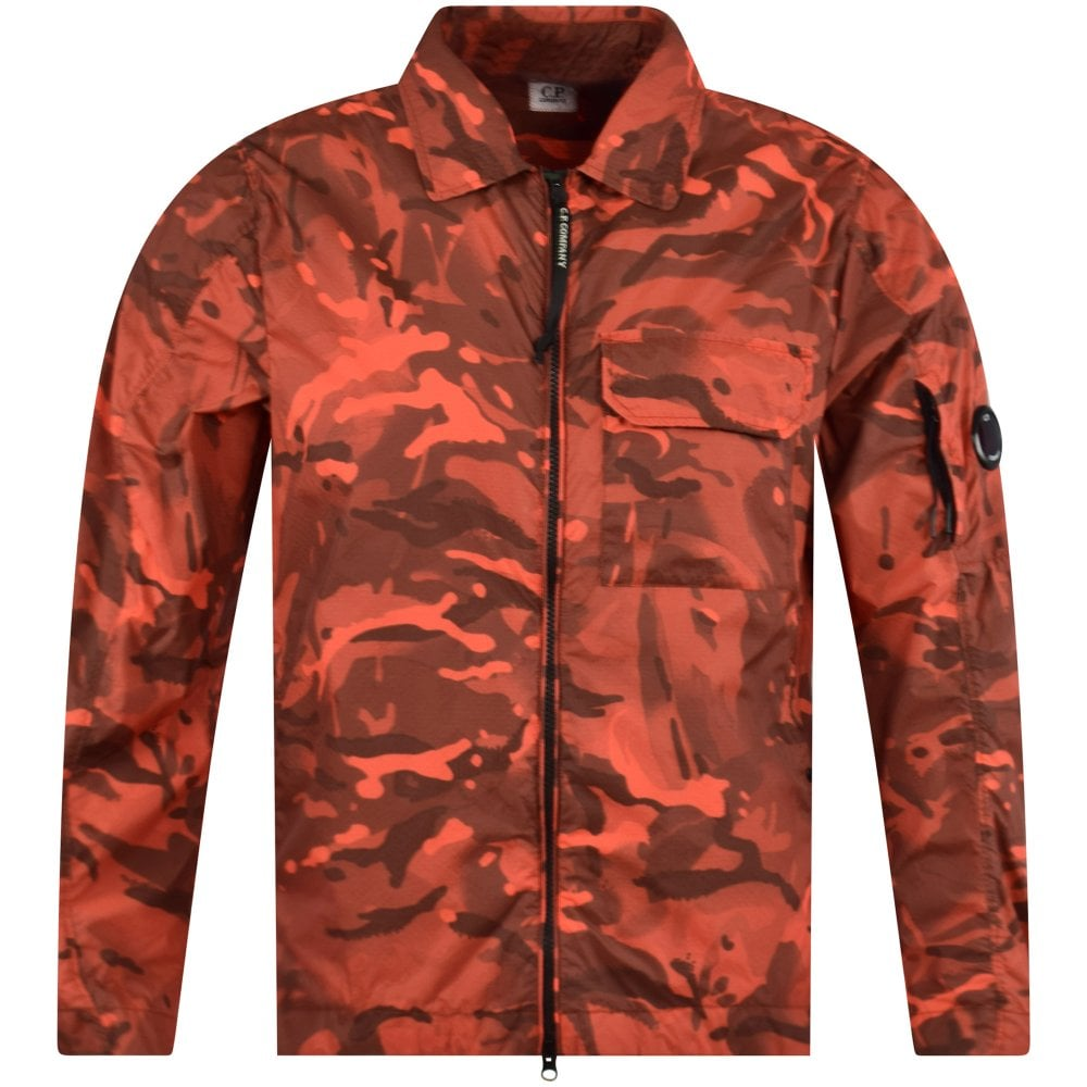 fdf23cd25d3cf C.P. COMPANY Red Camo Lens Overshirt Jacket - Men from ...