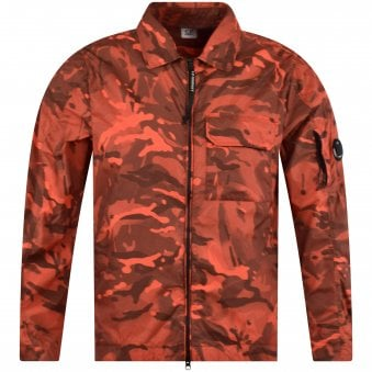 0ee7c25423776 Red Camo Lens Overshirt Jacket