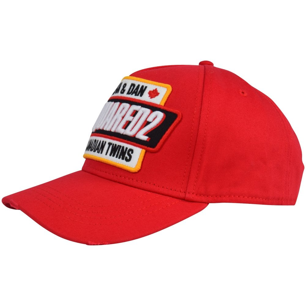 963443fd6ad98 DSQUARED2 Red Canadian Twins Baseball Cap - Men from Brother2Brother UK