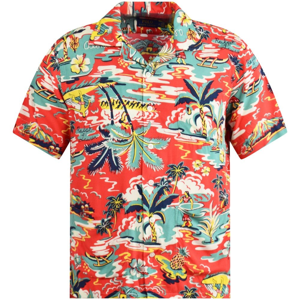 Tropical Classic Red Red Classic Shirt Tropical PiTwkuOZX