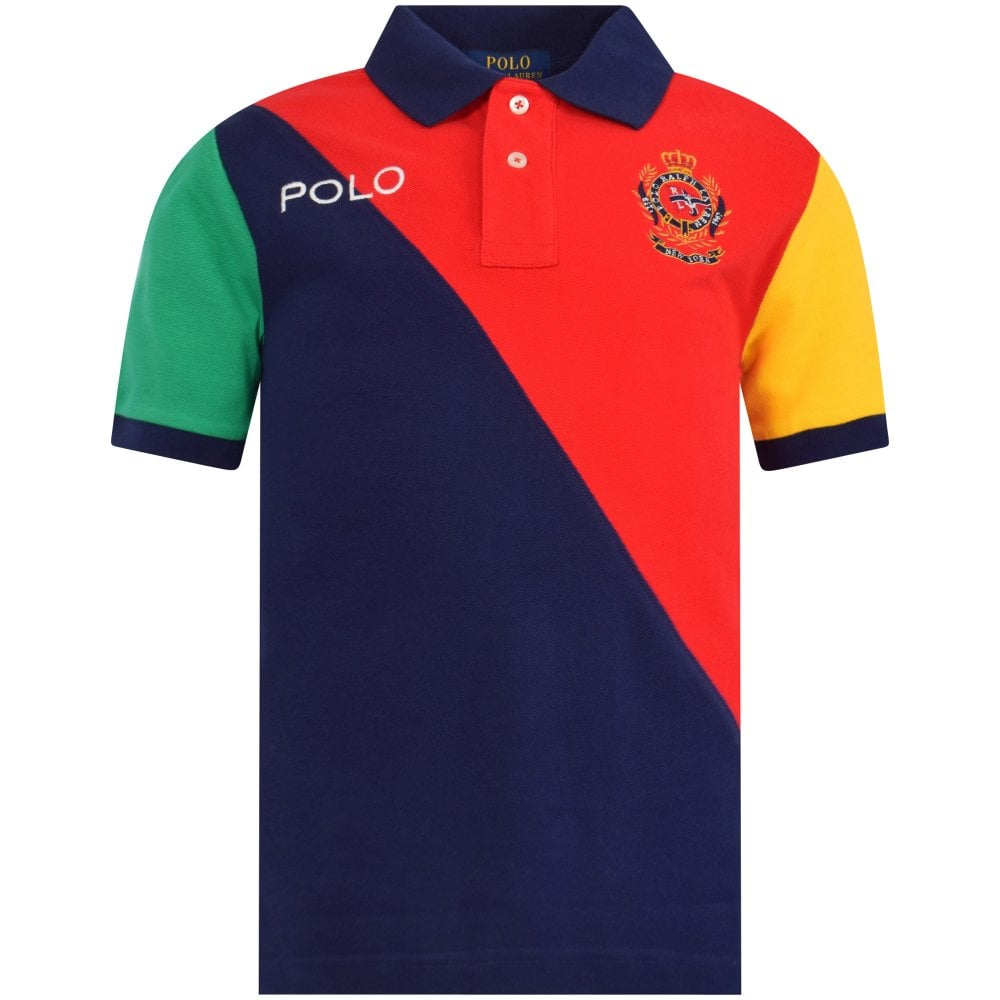 affordable price reasonably priced latest trends Red/Striped Logo Polo Shirt