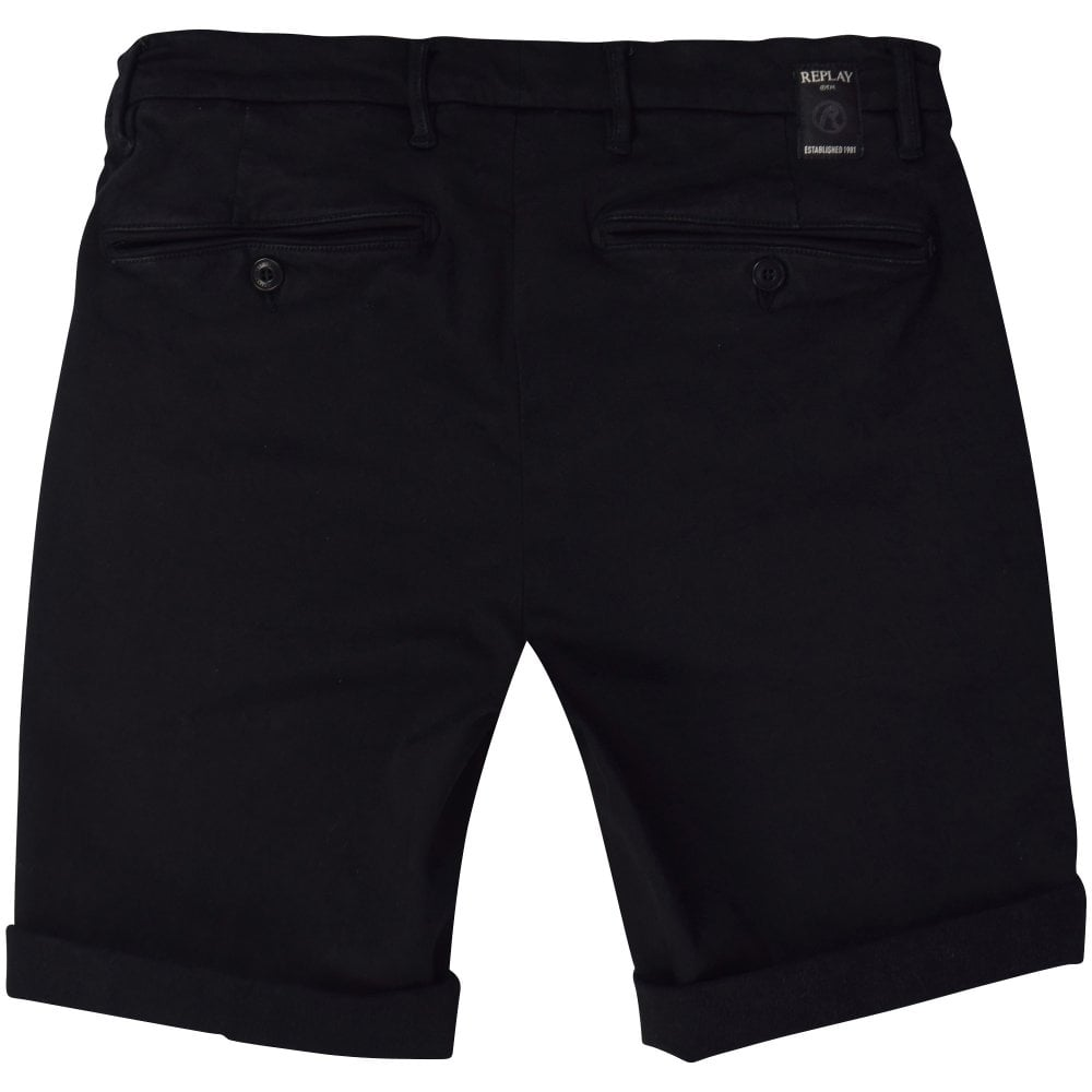 570abfa648 REPLAY Black Lehoen Shorts - Shorts & Swimwear from Brother2Brother UK