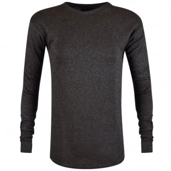 Represent Charcoal Long Sleeve Costa T-Shirt