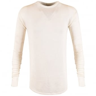 Represent Ivory Long Sleeve Costa T-Shirt