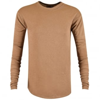 Represent Tan Long Sleeve Costa T-Shirt