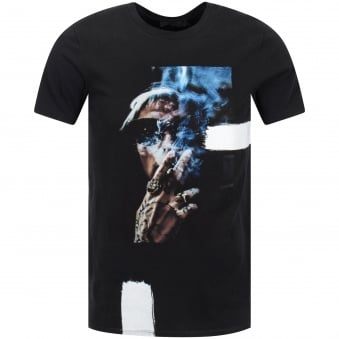 RH45 Blue Smoke Black Crew Neck T-Shirt