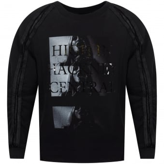 RH45 High In Hackney Central Black Detailed Sweatshirt
