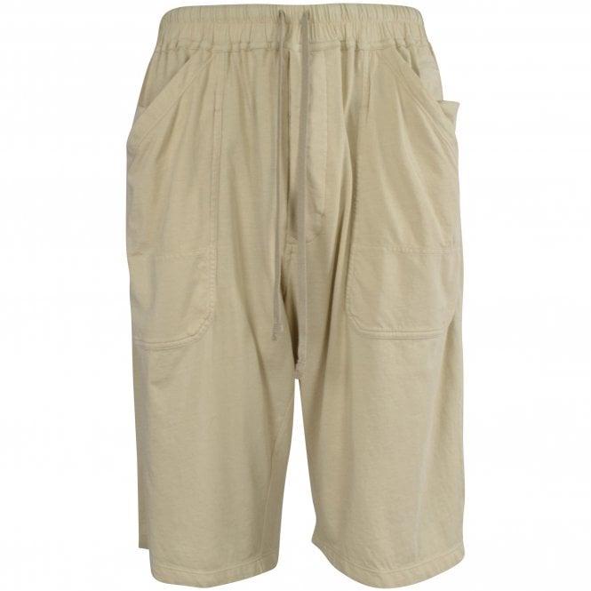 RICK OWENS Drawstring Shorts in Pearl Front