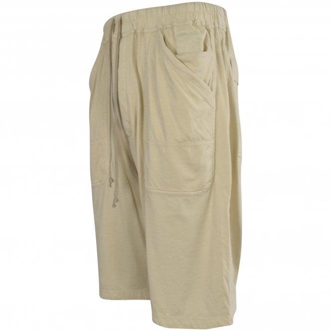RICK OWENS Drawstring Shorts in Pearl Side