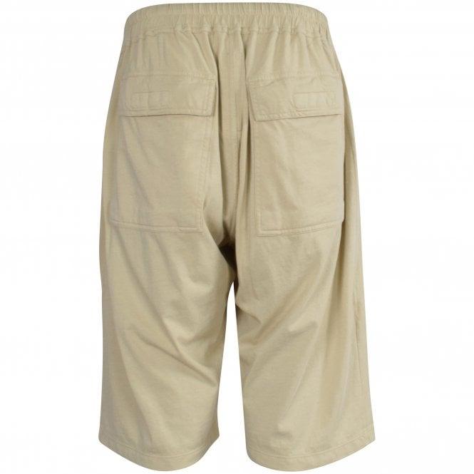 RICK OWENS Drawstring Shorts in Pearl Reverse