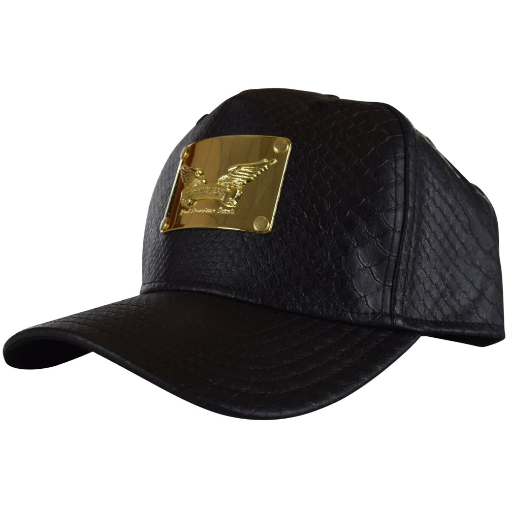 ROBINS JEANS Robins Jeans Black Python Plaque Snapback - Men from ... f95816f0fcc