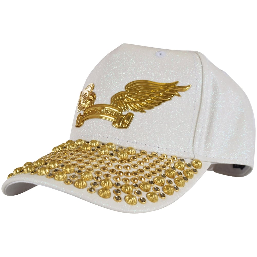 ROBINS JEANS Robins Jeans White Glitter Studded Snapback - Men from ... e0999db8220