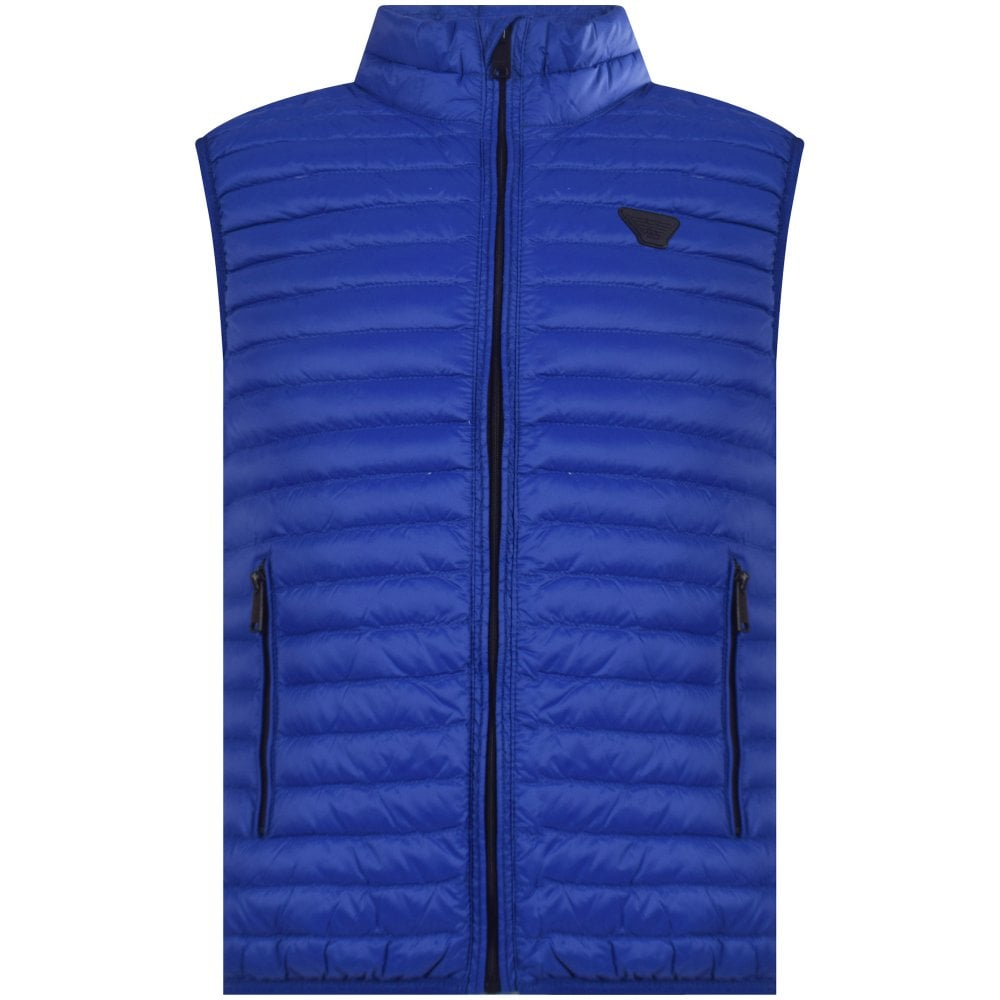1336eb0c575d ARMANI JUNIOR Royal Blue Padded Eagle Gilet - Junior from ...