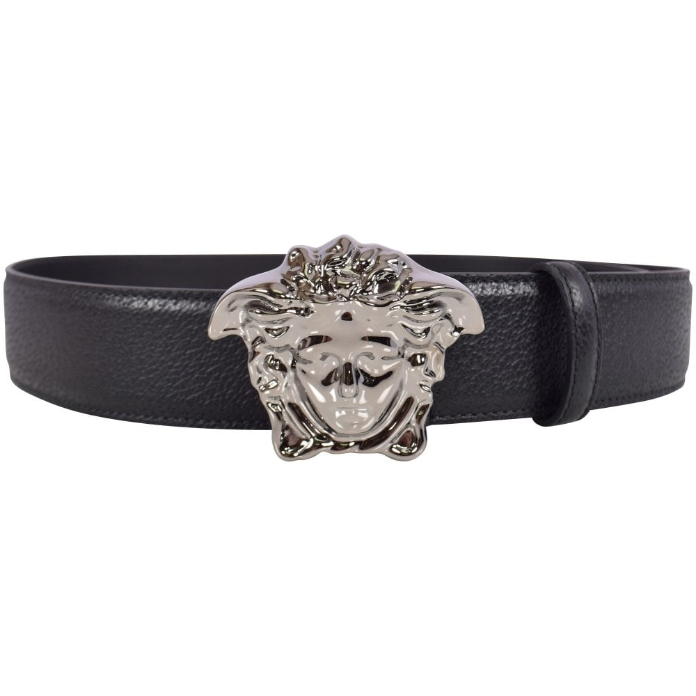 9ac90f40c9 VERSACE Silver/Black Palazzo Calf Leather Belt - Department from  Brother2Brother UK