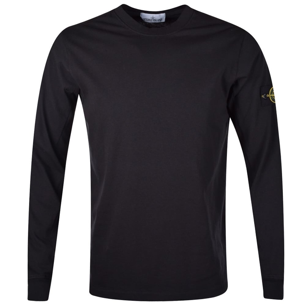 STONE ISLAND Stone Island Black Badge Long Sleeve T-Shirt - Men from ... 42d973ad421