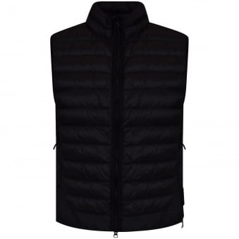 Stone Island Black Compass Badge Puffer Gilet