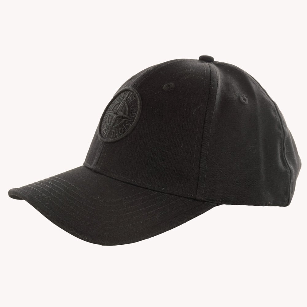STONE ISLAND Stone Island Black Compass Embroidered Cap - Men from ... 197f5aacc15