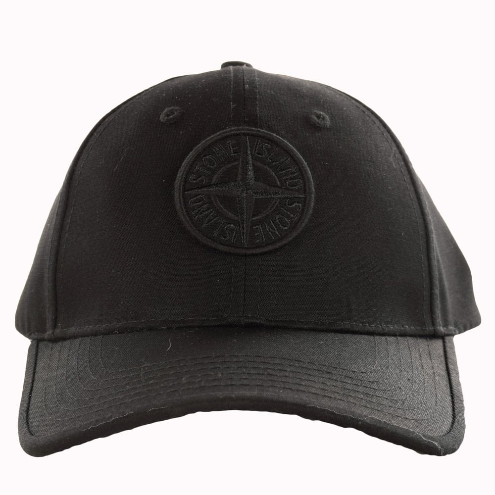 c9ef4f57fbb39 STONE ISLAND Stone Island Black Compass Embroidered Cap - Men from ...