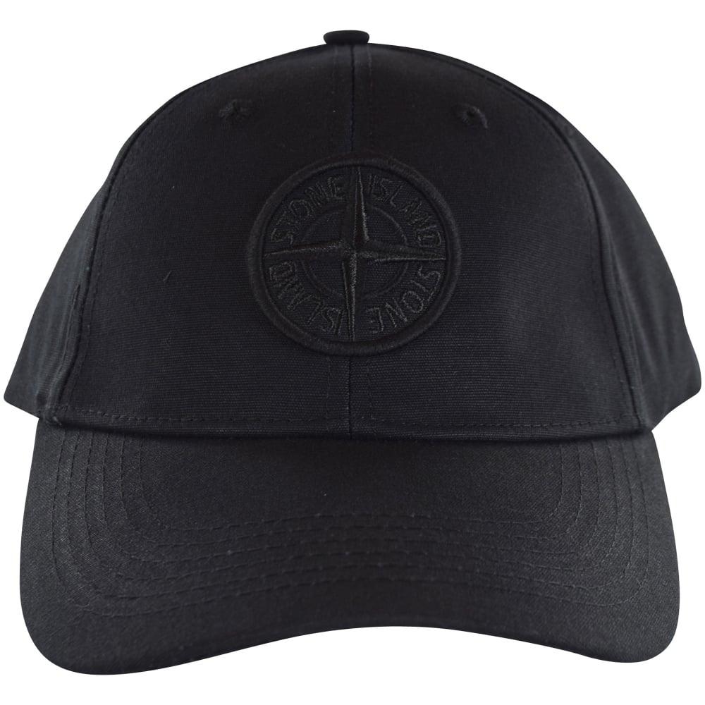e523b13e37d8e STONE ISLAND Stone Island Black Compass Logo Cap - Men from ...