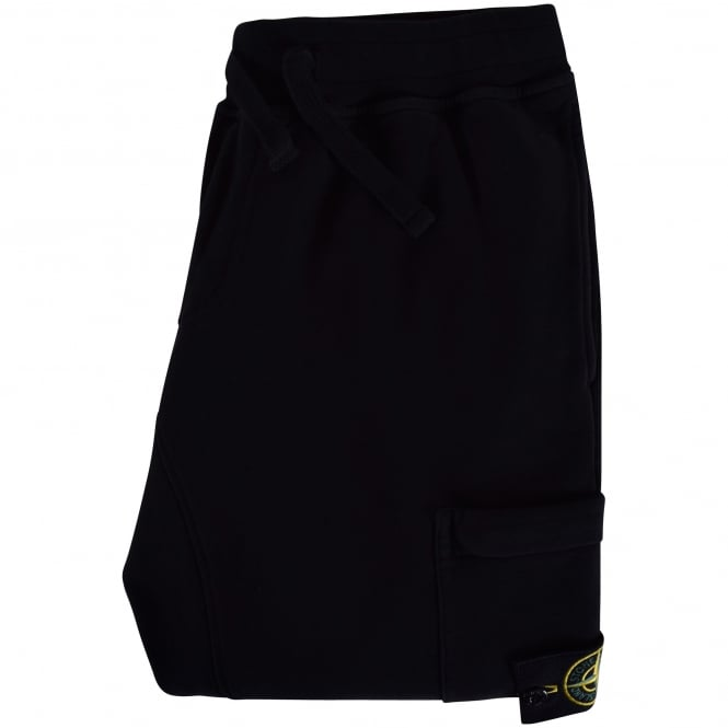 STONE ISLAND Black Compass Pocket Joggers