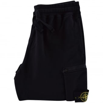 Stone Island Black Zip Badge Joggers